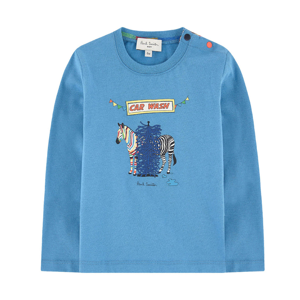 5b1e81c5fa Baby Blue  Zebra  Long Sleeve T-shirt – Occasion Kids