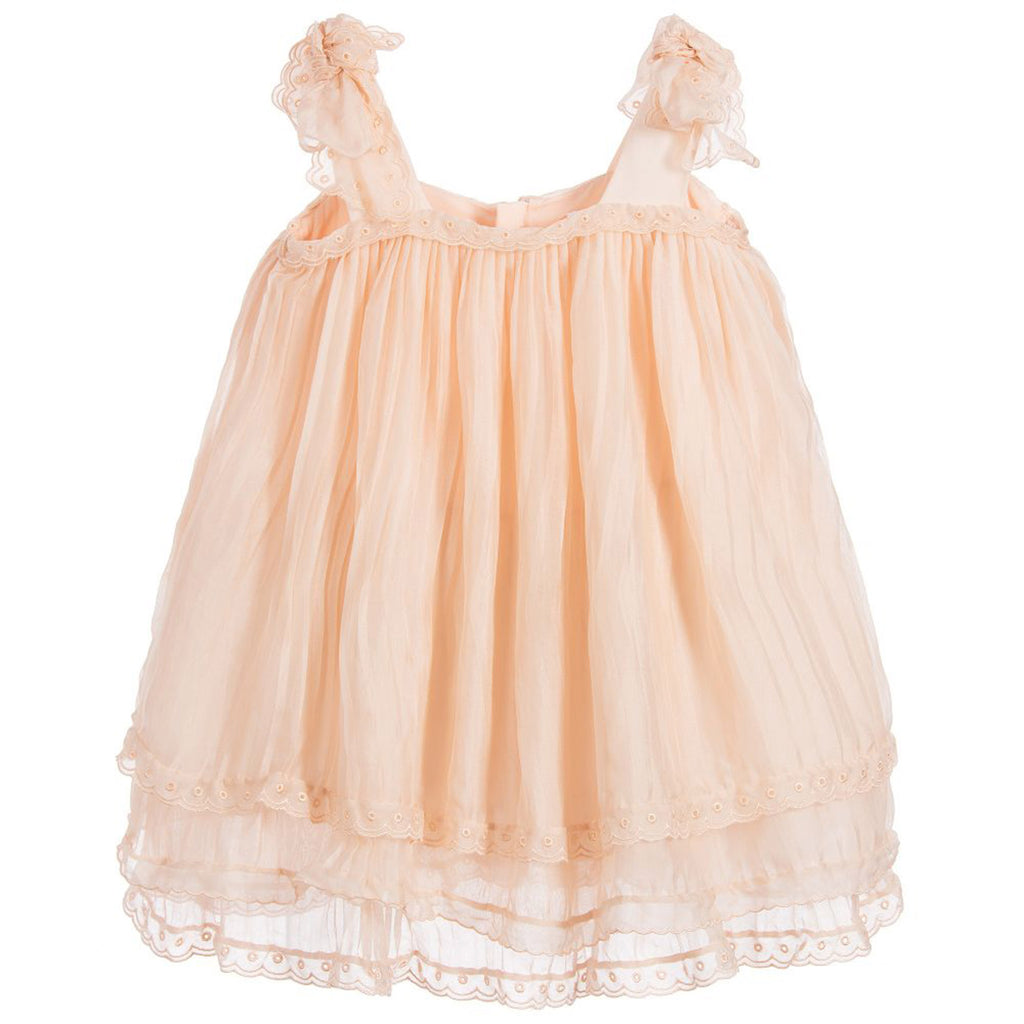 Girls Mini Me Couture Silk Dress