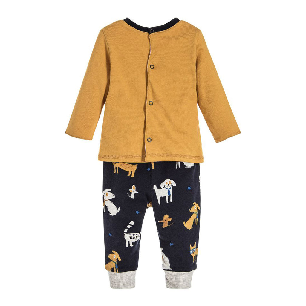 Baby Long Sleeve T-shirt & Pants Set with Dog Print