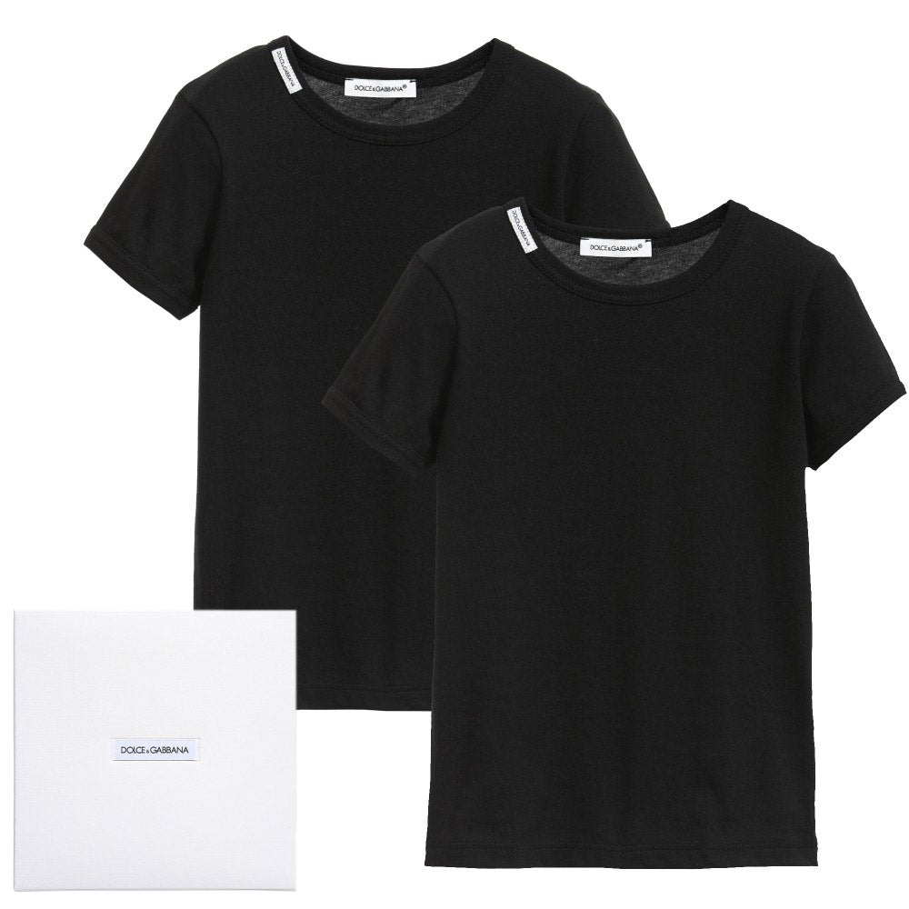 Boys 2 Pack T-Shirts Box Set- Black