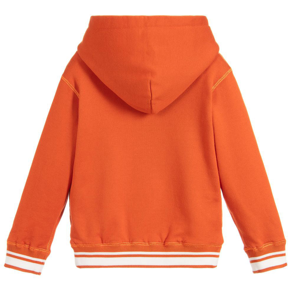 Orange Logo Hooded Sweatshirt