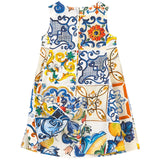 Mini Me Sleeveless 'Majolica' Dress
