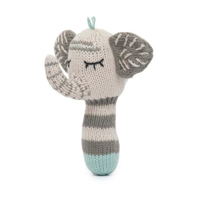 Kellan the Elephant Mini Rattle