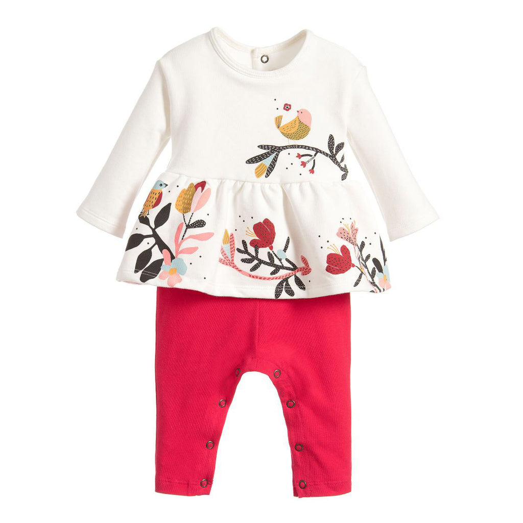 Baby Girls Floral Top & Pants One Piece