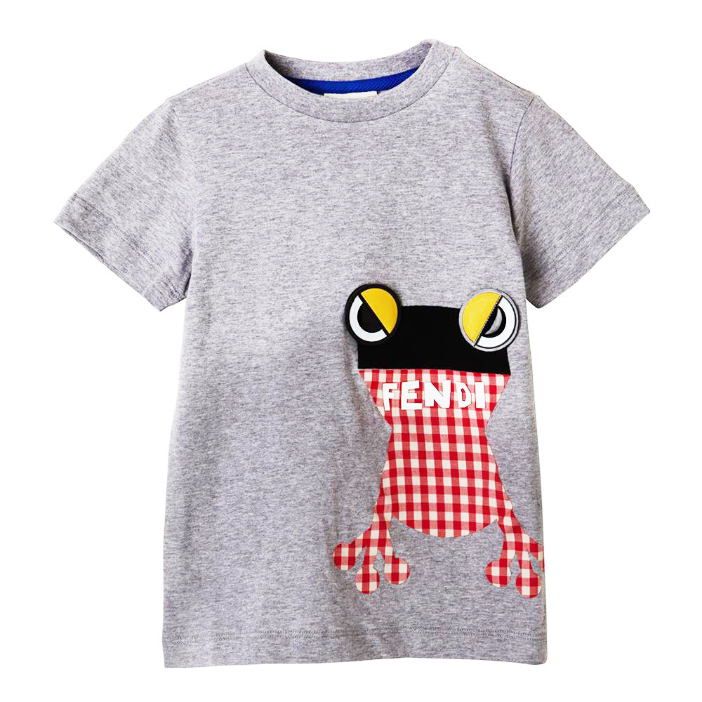 a6910c62577a Boys Gray T-shirt with Frog Design – Occasion Kids