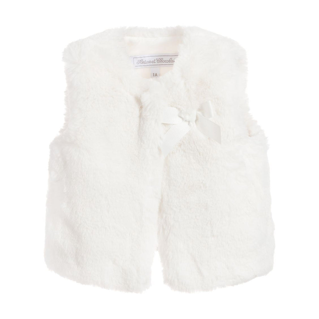 Baby Cream Faux Fur Vest
