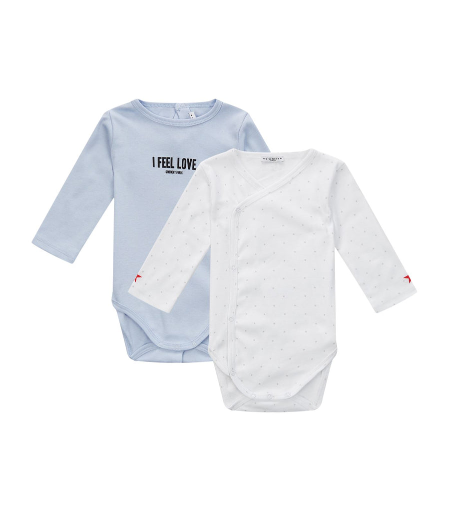 Baby Set of 2 Long Sleeve Bodysuits with Box