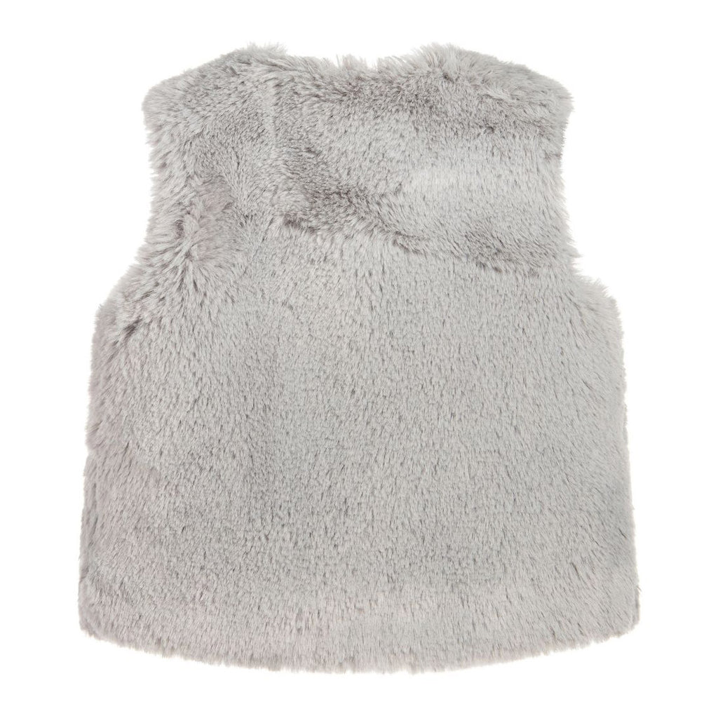 Baby Gray Faux Fur Vest
