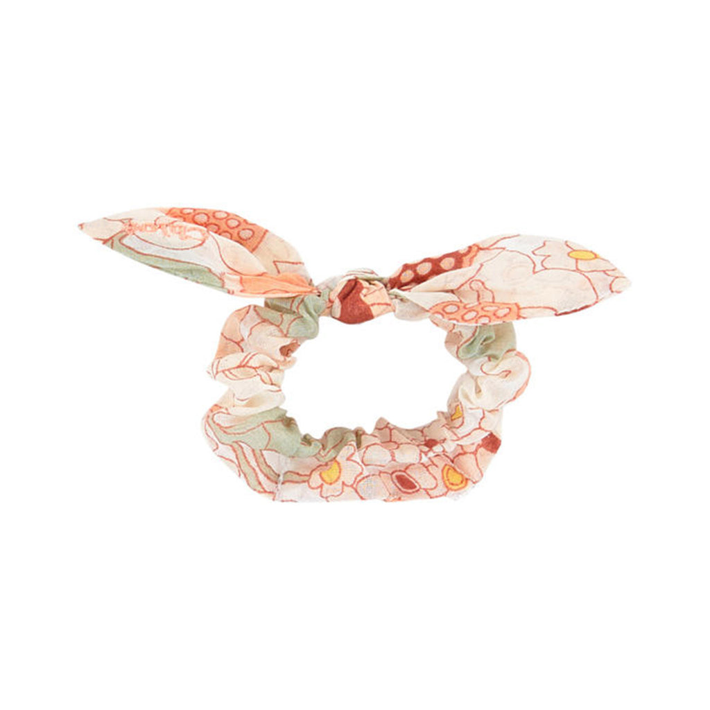 Peach Floral Hair Scrunchie