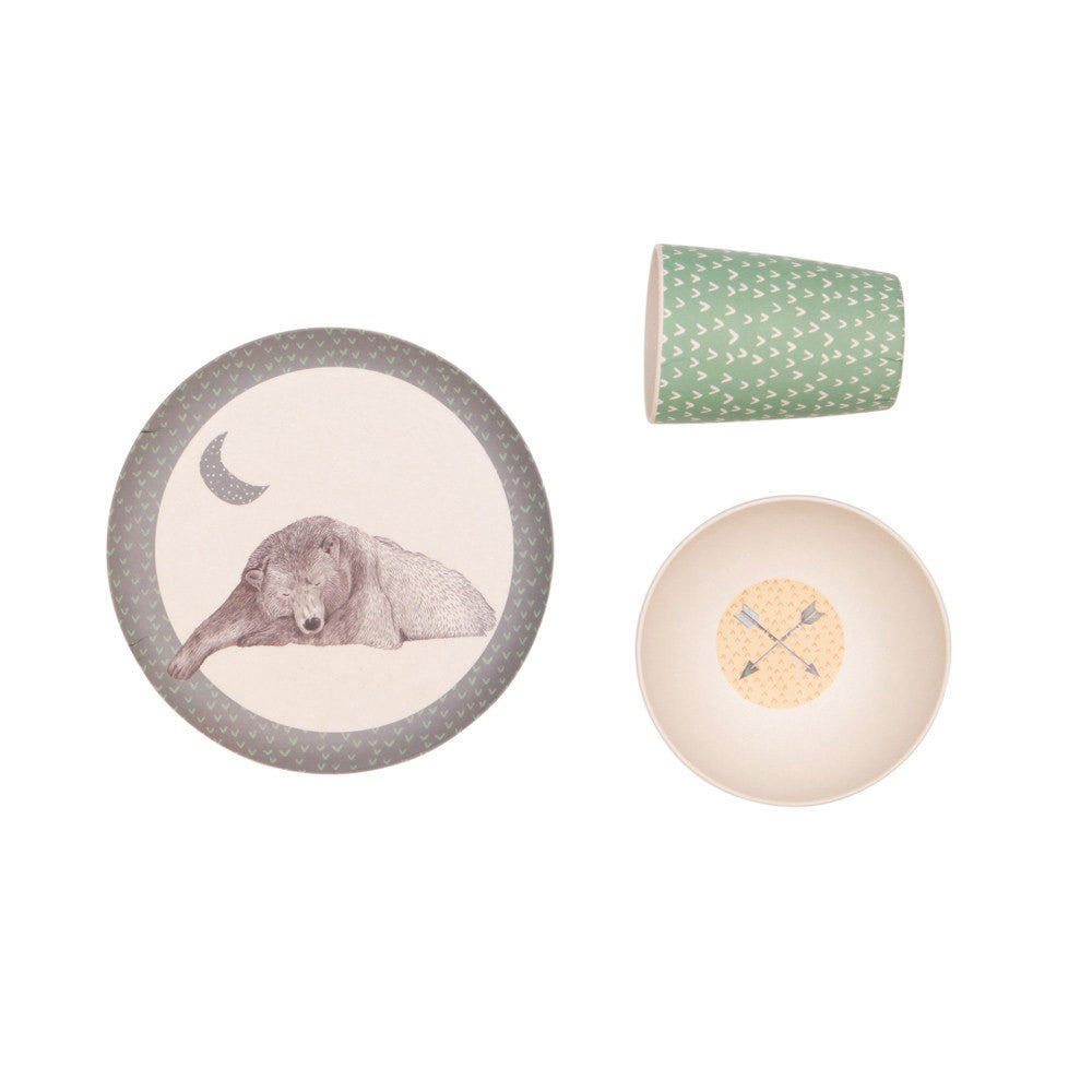 Hungry Bear - 3 Piece Bamboo Dinner Set