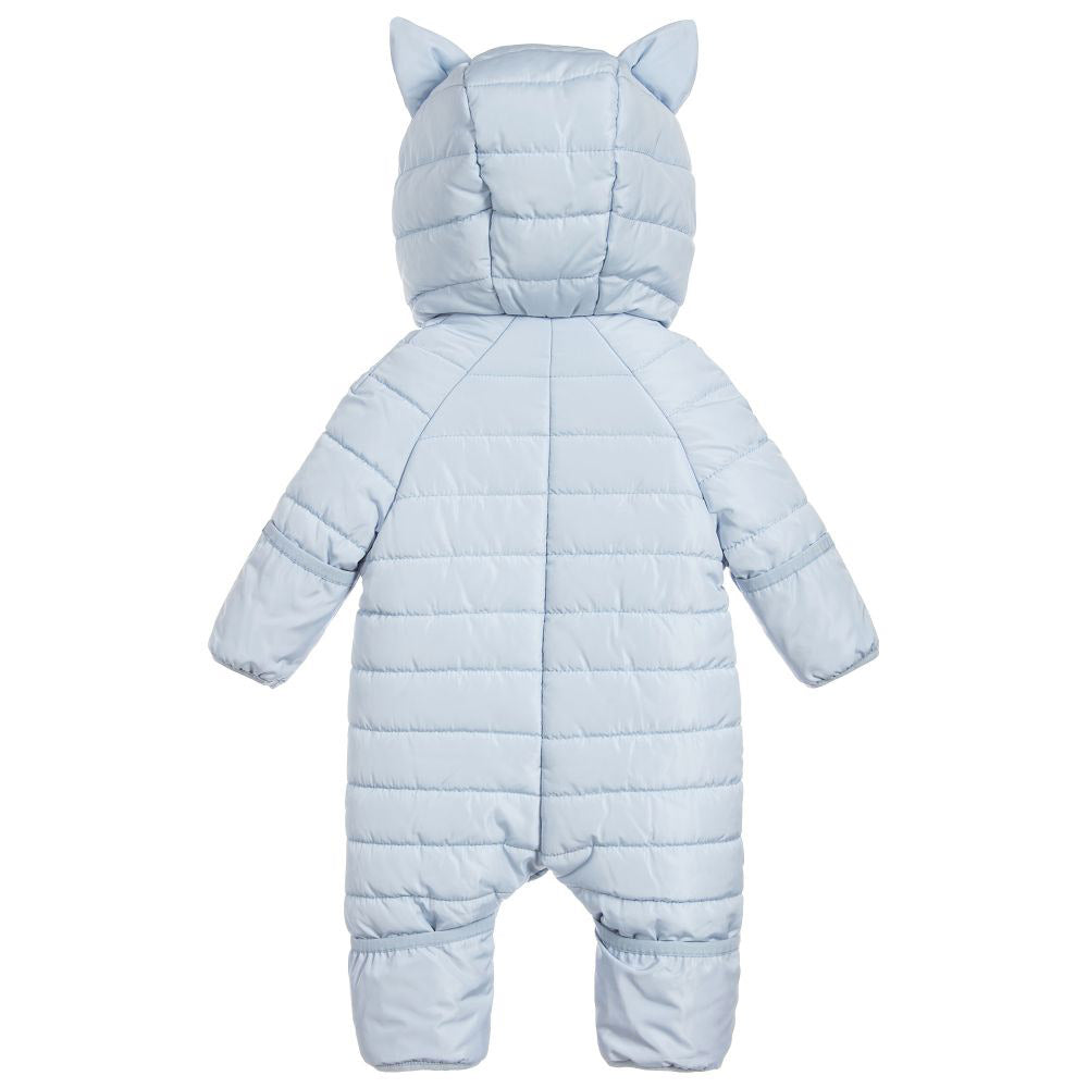 Baby Blue Hooded Snowsuit