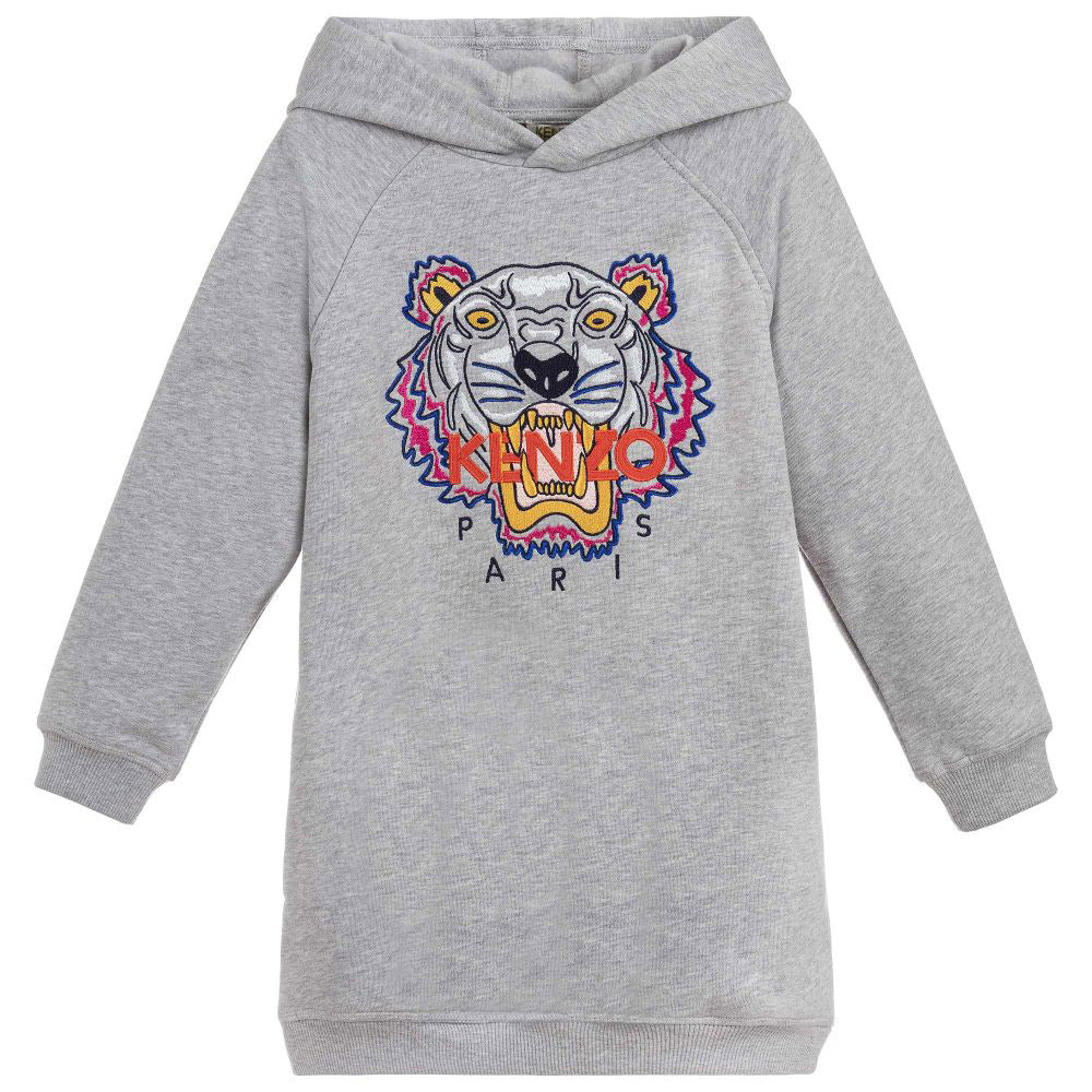 b26714034 Girls Hooded Embroidered 'Tiger' Sweat Dress – Occasion Kids