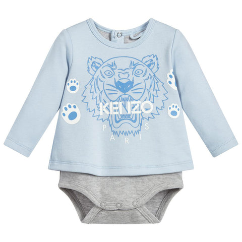 Baby Quilted Hooded 'Bear' Jacket- Blue