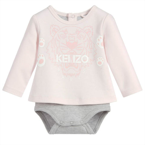 Baby Quilted Hooded 'Bear' Jacket- Pink