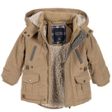 Baby Brown Coat with Faux Fur Hood