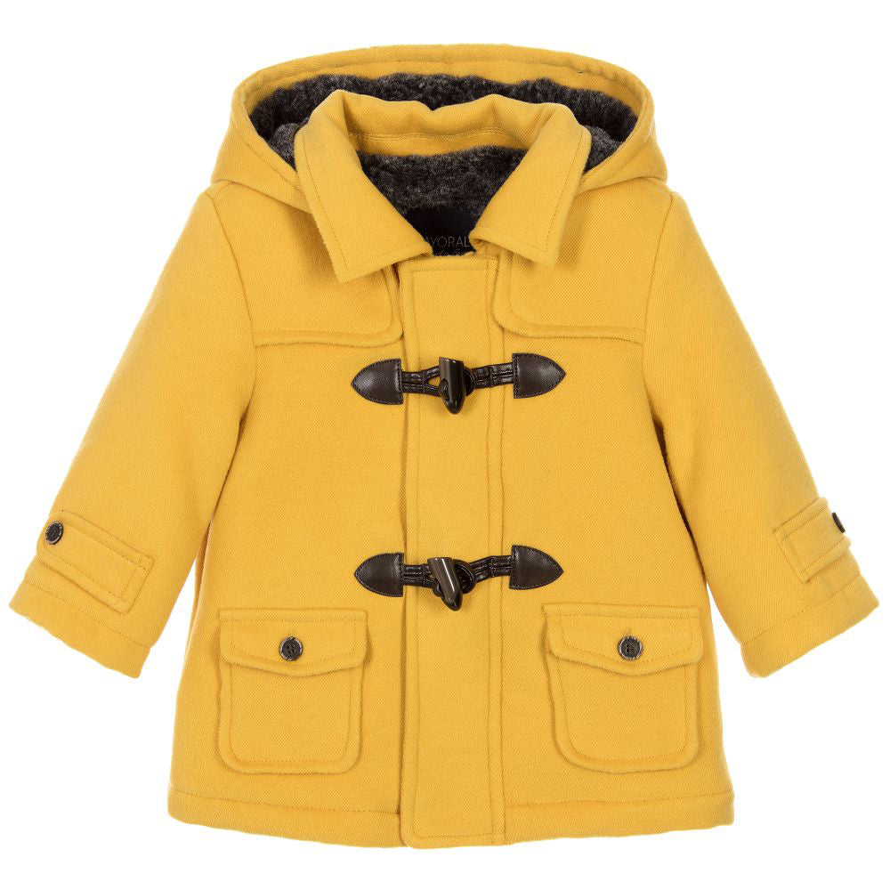 stable quality cost charm official price Baby Yellow Hooded Coat