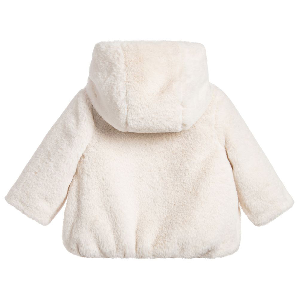 Baby Ivory Faux Fur Coat