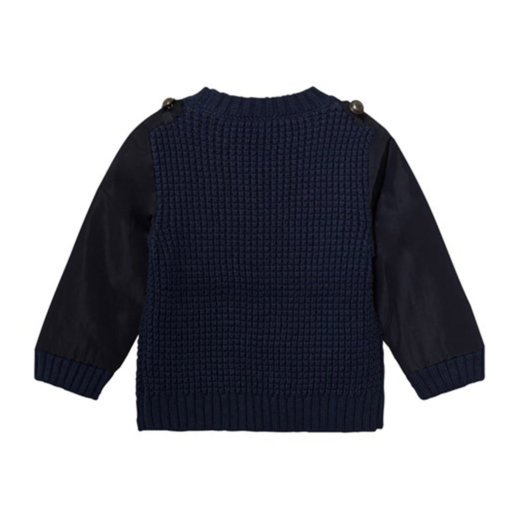 Boys 'Apollo' Knit Sweater with Nylon Sleeves