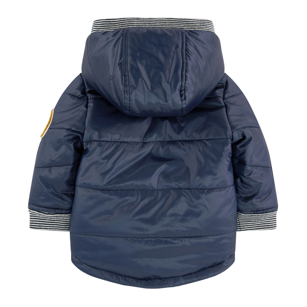 Baby Padded Coat with Faux Fur Lining