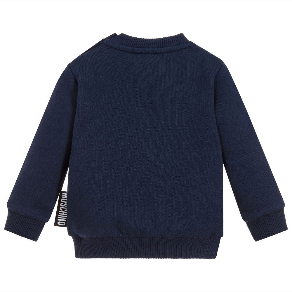 Baby Navy 'Bear' Sweatshirt