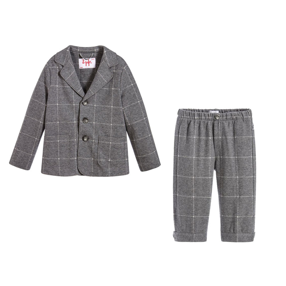 Baby Boys Plaid Blazer and Pants Set