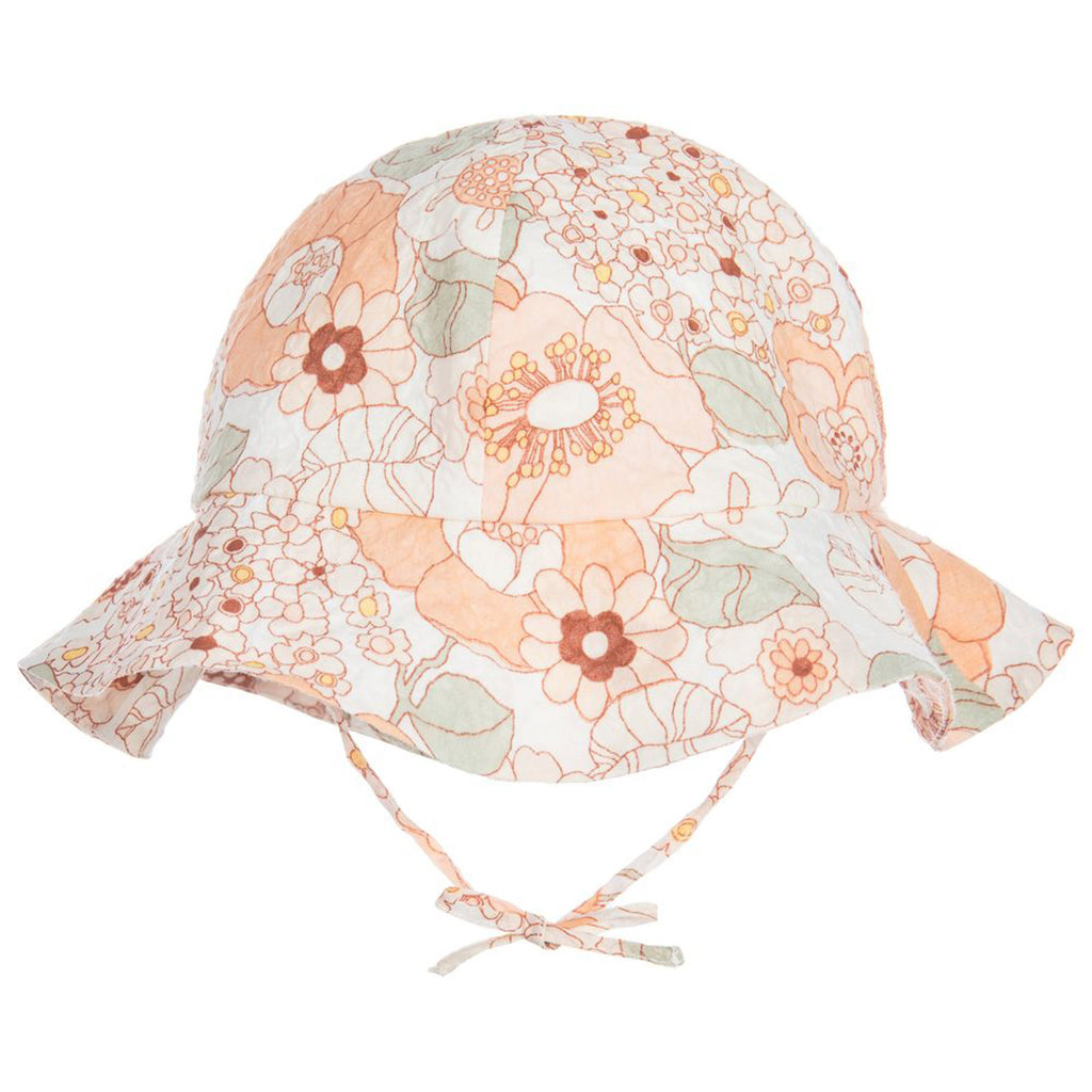 Baby Peach Floral Sun Hat – Occasion Kids 174ca7173952