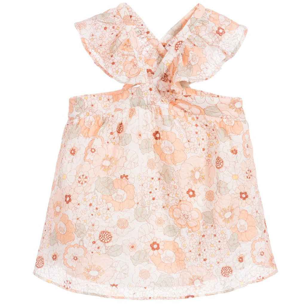 c3968811fa7d Girls Peach Floral Top; Girls Peach Floral Top ...