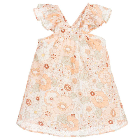 Baby Pink Embroidered Print Dress