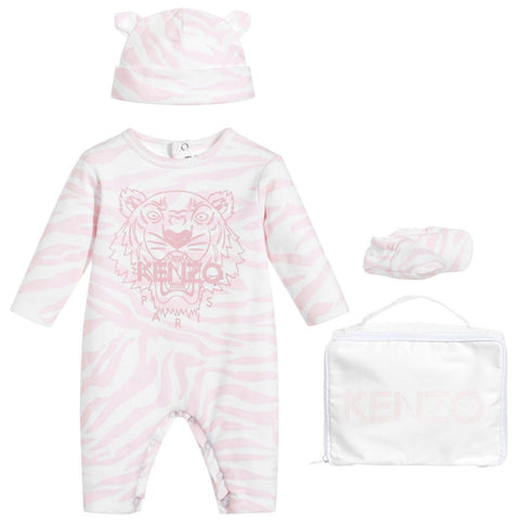 Baby Pink Tiger Sweatshirt & Pants Set