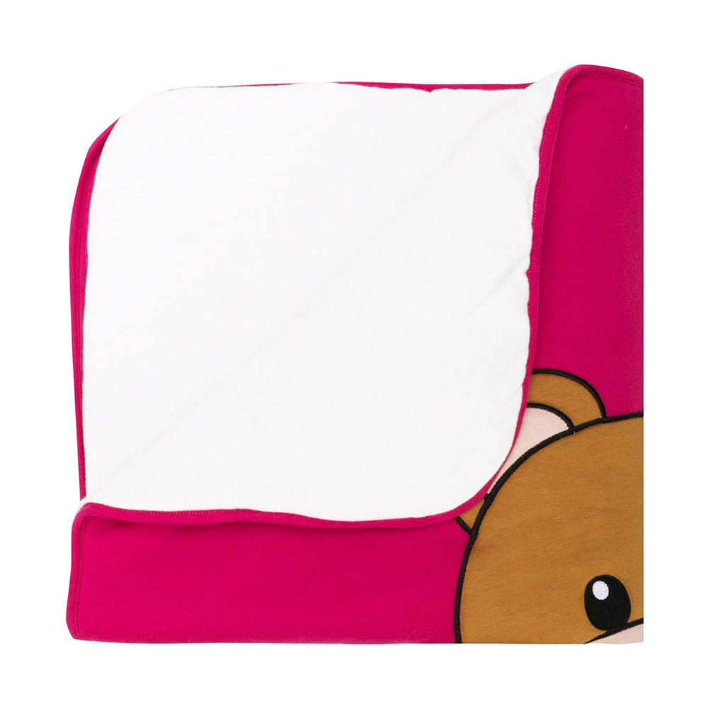 Baby Padded Bear Blanket- Pink
