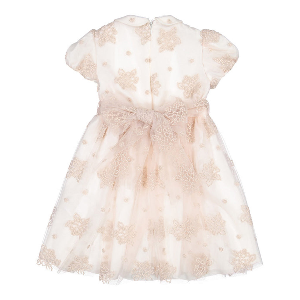 Baby Pink Embroidered Tulle Dress