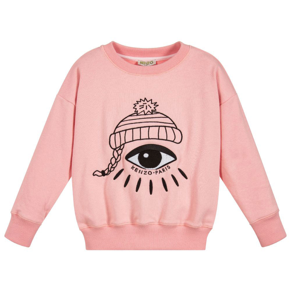 fe2cc91f Girls Pink Embroidered Eye Sweatshirt