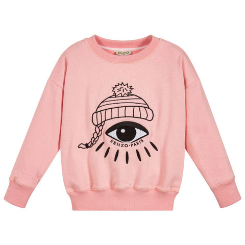 Mini Me Pink 'LOVE' Embroidered Sweater Dress