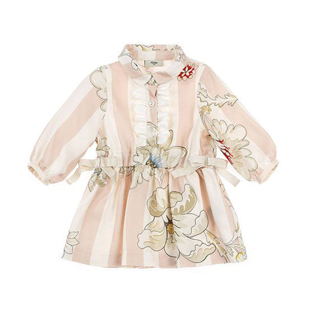 Baby Floral & Stripe Long Sleeve Dress