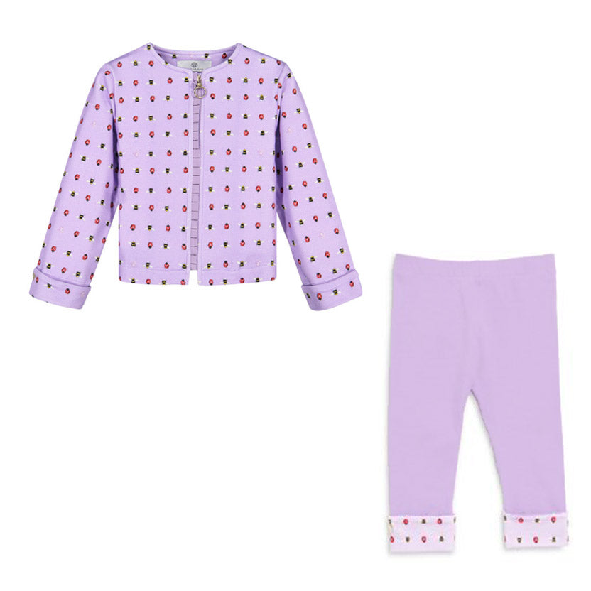 Baby Lilac Zipper Jacket & Leggings Set