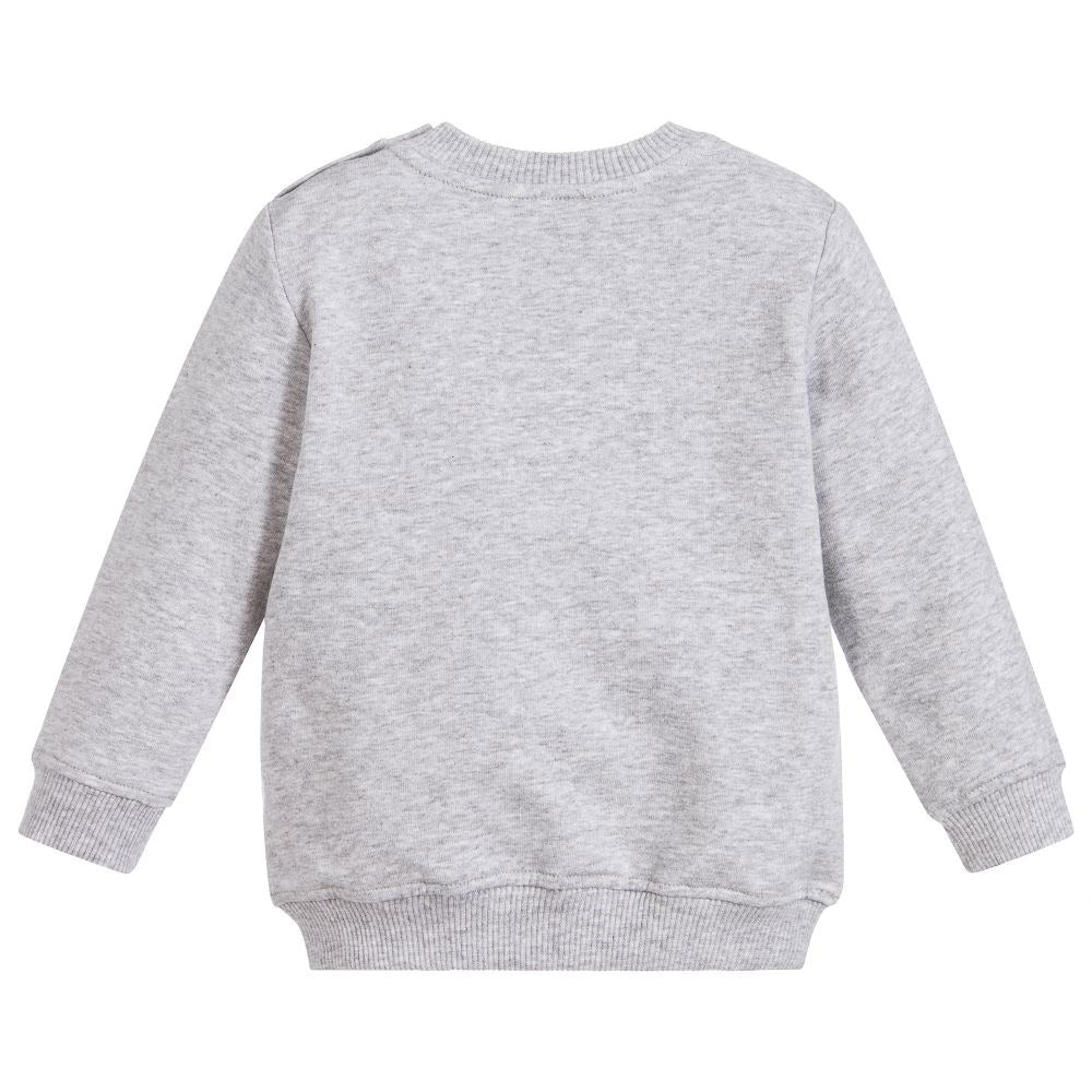 Baby Bear & Logo Sweatshirt- Gray