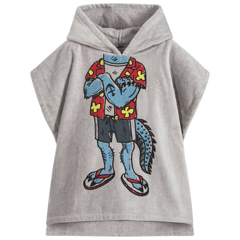Gray Collared Footie with Fleece Vest Set