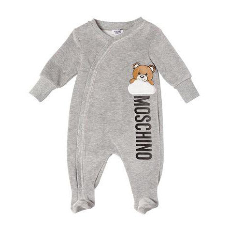 Baby Denim Jogging Pants with Embroidered 'Bear' Patch