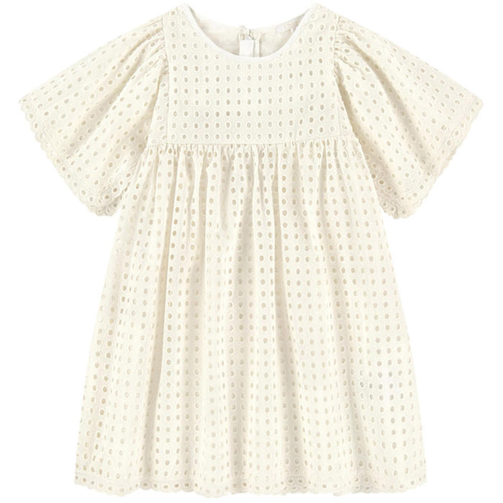 Baby White Embroidery Dress with Bloomers