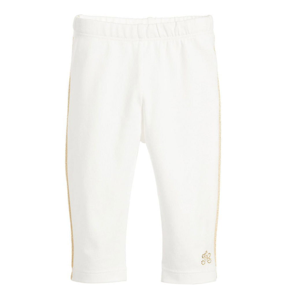 096aabe19d572 Baby Girls White Leggings with Gold Trim – Occasion Kids