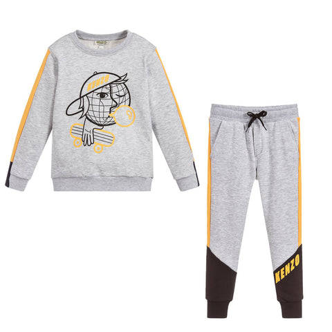 BABY BLUE TIGER SWEATSHIRT & PANTS SET