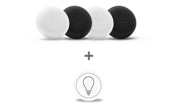 Home Automation Combo (4 Flics + Flic Lights)