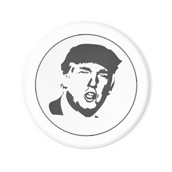 The Donald Trump Black & White Button