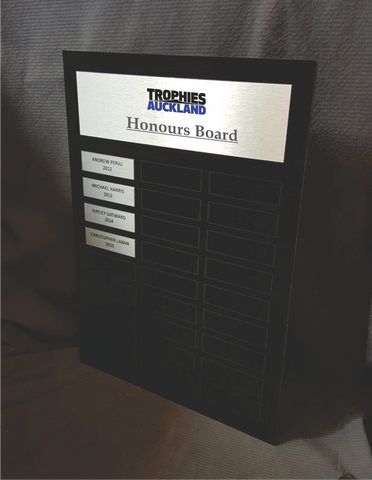 Honours Board - Black Acrylic