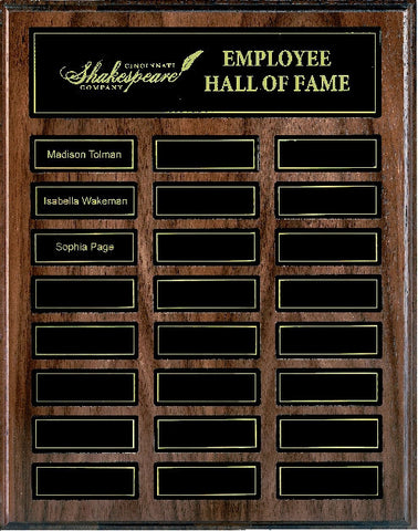 Walnut Honours Board XL