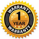 1 year warranty badge