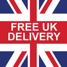 union jack flag with text saying free uk delivery