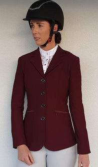 Huntington Nicky Kwik-Dry Ladies Riding Jacket - BURGUNDY (PRE ORDER)