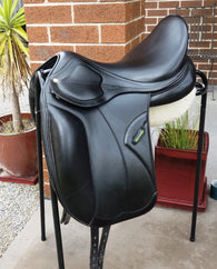 "SOLD.......17"" Amerigo Pinerolo Monoflap Dressage Saddle 17"" +2 MW"
