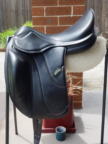 "SOLD ......17.5"" Amerigo Vega Monoflap Dressage Saddle +1.5 MW"